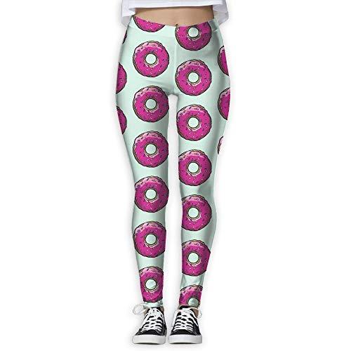 KLing Damen-Sporthose, für Fitnessstudio, Yoga, mittellange Taille, Laufen, Fitness, Doughnut, elastisch, Größe S
