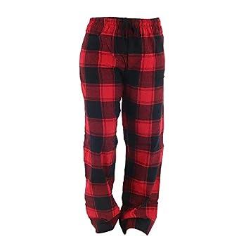 DM Merchandising Inc Hello Mello Women s Plaid Lounge Pants XL Red Plaid
