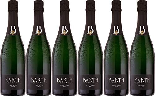 Barth Wein- und Sektgut Pinot Blanc Sekt Brut (herb) Bio (6 x 0.75 l)