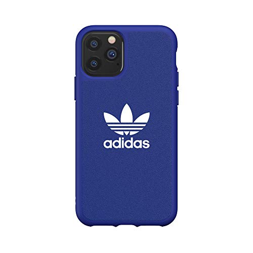 adidas Originals Compatible with iPhone 11 Pro Case, Protective Moulded Canvas Phone Cover - Collegiate Power Blue