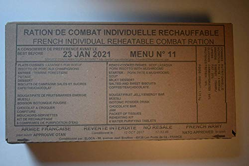RCIR MRE NEW FRENCH COMBAT RATION 24 HRS INDIVIDUAL REHEATABLE