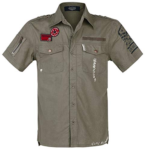 Rock Rebel by EMP Diesel in The Dust Homme Chemise Manches Courtes Olive S