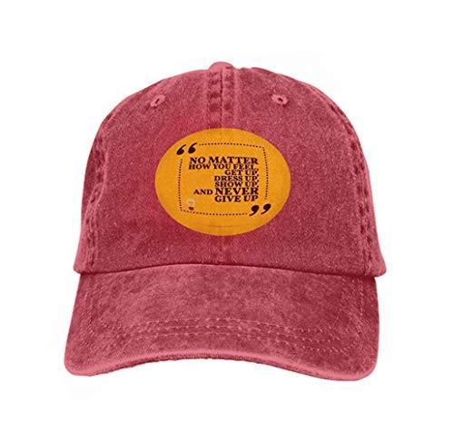 Preisvergleich Produktbild Unisex Baseball Cap Trucker Hat Adult Cowboy Hat Hip Hop Snapback Inspirational Motivational Quote no Matter How You Feel get up Dress up Show up Simple Trendy Cool696