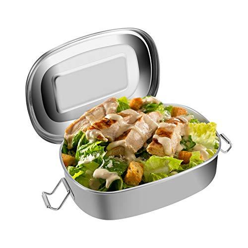 JUPSK Infantil Fiambrera Lunch Bento Box Caja de Almuerzo de Acero Inoxidable para niños niñas Escuela, Contenedor de bocadillos 500ml