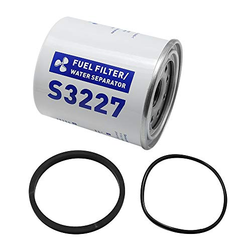 S3227 Fuel Filter Element Water Separator Replacement for Parker Racor Gas Spin-On Fuel Water Separator 320R 490R-RAC-01 Marine Boat Engine