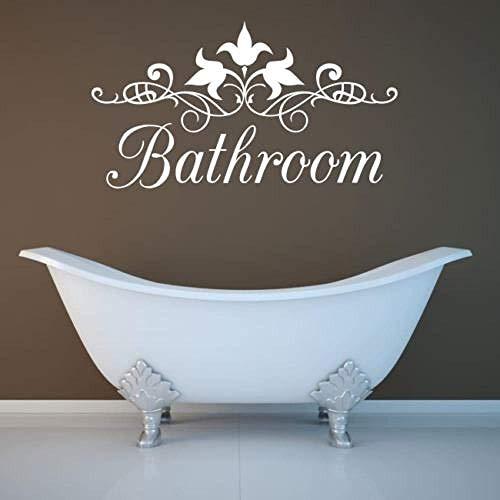 Wandaufkleber Badezimmer Wandkunst Aufkleber Aufkleber Zitat Familie Liebe lustige Toilette Vinyl Aufkleber 44X80Cm