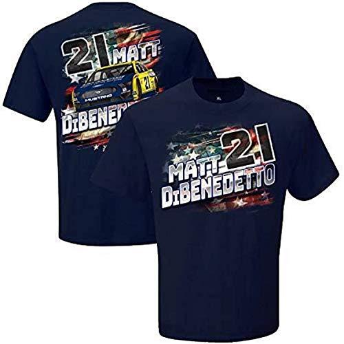 Men's Matt DiBenedetto Checkered Flag Navy Menards Patriotic T-Shirt Long Sleeve Sweatshirt Hoodie Tank Top for Men Womens Ladies boy Girl