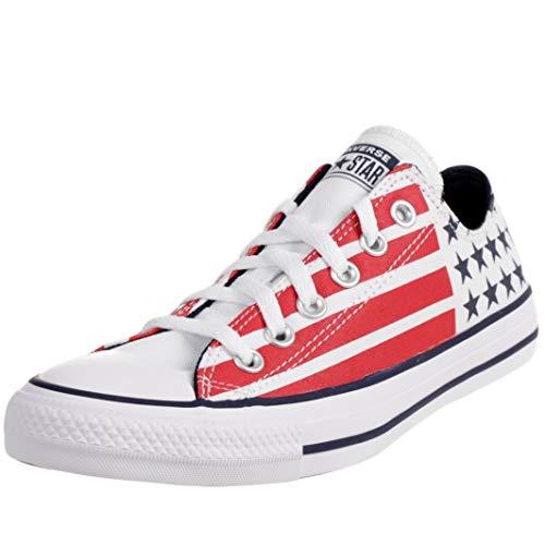 Converse CTAS OX 'Stars & Stripes' Sneaker Canvas Schuhe Unisex 167838C, Schuhgröße:42.5 EU