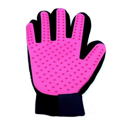 1 stuk handschoenen voor huisdieren, honden en katten, voor het reinigen van dieren, massage, voor honden en katten, voor het reinigen van huisdieren, voor honden, borstel voor handschoenen en handschoenen, voor huisdieren, pet glove, right pink