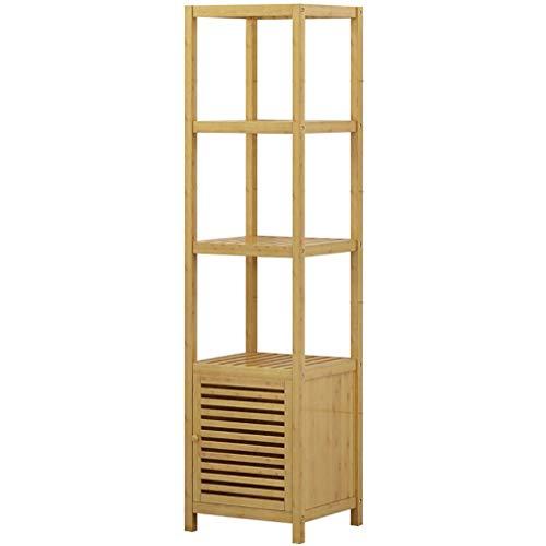 WWF 5-Tier Bamboo Badezimmer Regal-Standregale Moderne Storage Rack, Geeignet Für Wohnzimmer Badezimmer Büro hgjghjfghgfhfgfg