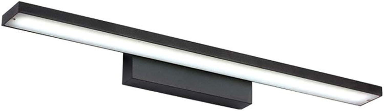 TopDeng Bad Wandleuchte Wasserdicht LED Spiegel lampe, Einfach Make-up Spiegel Lampe Aluminum Halter Schminklicht Acryl Schattierungen-Weies Licht 60cm+12W