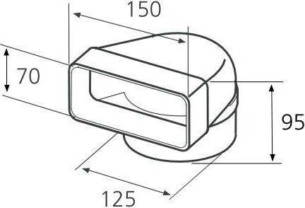 Curva redondo/rectangular accesorio para campana extractora Hélices – 1052q: Amazon.es: Hogar