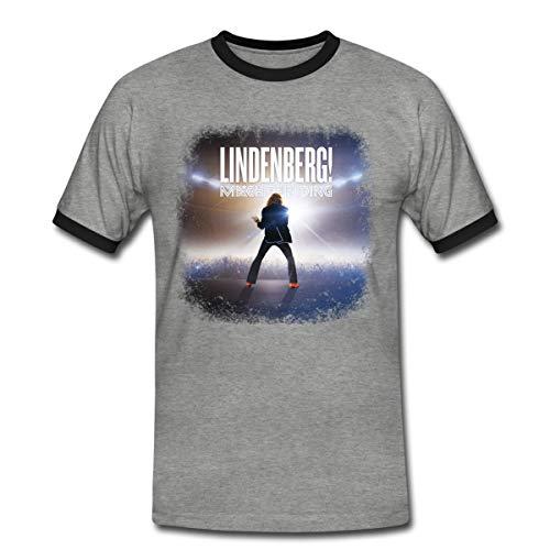 Lindenberg! Mach Dein Ding! Filmplakat Männer Kontrast T-Shirt, XL, Grau meliert/Schwarz