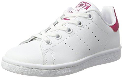 adidas Stan Smith C, Scarpe da Ginnastica Basse Unisex-Bambini, Bianco (Footwear White/footwear White/bold Pink), 30 EU