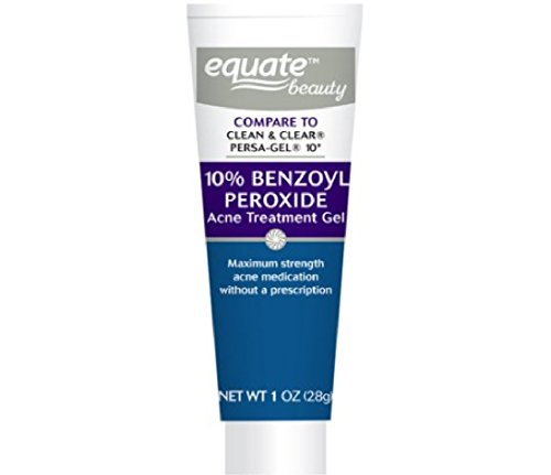 Equate 10% Benzoyl Peroxide Acne Treatment Gel, 1oz, Compare to Clean & Clear Persa-Gel 10