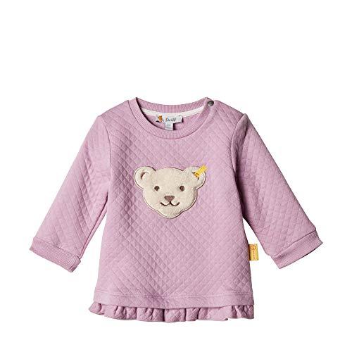 Steiff Baby - Mädchen Sweatshirt , Violett (LAVENDER MIST 7020) , 62 (Herstellergröße:62)