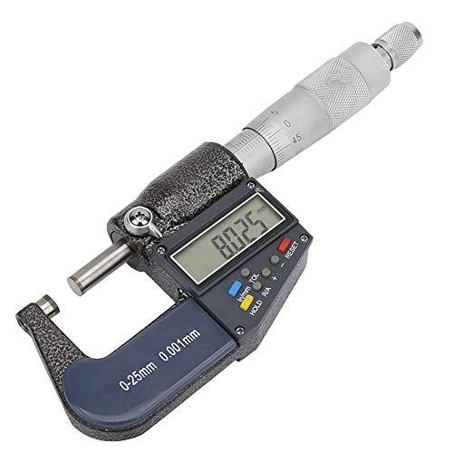 fegayu Micrómetro Digital portátil de Espesor, micrómetro electrónico, para medir Demasiado Calibre de medición