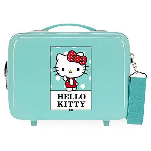 Hello Kitty Bow of Hello Kitty Neceser Adaptable Verde 29x21x15 cms Rígida ABS 9,14L 0,84 kgs