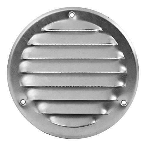 Ø 100mm Verzinkt Lüftungsgitter mit Insektenschutz Abluft Zuluft Rund Metall Gitter Außenmaß: 140mm