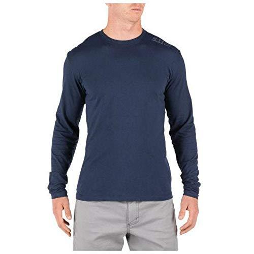 5.11 T-shirt tactique à manches longues pour homme, évacuation de l'humidité, séchage rapide, style 42110JM - bleu - Taille S