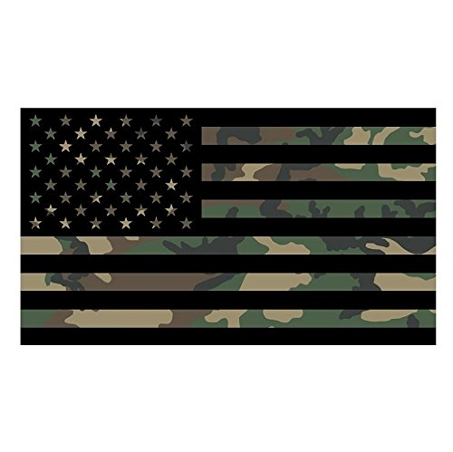 Camo American Flag Sticker Custom Vinyl United States Marines Army Navy Airforce Guns Arms Right Camoflauge