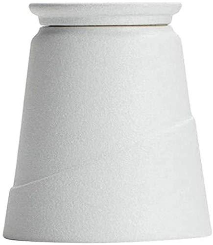 HJKL Adult keramische as volwassenen urnen aandenken urnen voor begrafening, funeral, funeral, urn as-opbergdoos (kleur: zwart), kleur: wit