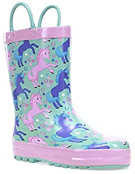 Western Chief Kids Girl s Lucky Unicorn  Toddler/Little Kid  Turquoise 7-8 Toddler M