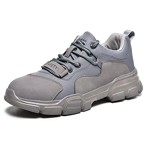 fayengan Steel Toe Shoes for Men Work Women Lightweight Sneakers Slip Resistant Safety Work Boots Indestructible Shoe (Color : Gray, Size : 6.5US)