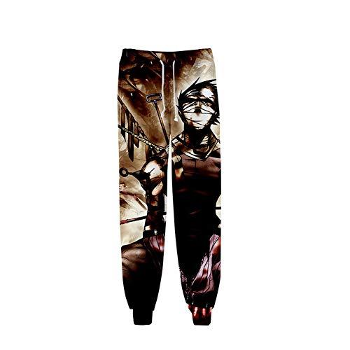 CRBTA Sweatpants Naruto 3D Unisex Anime Sweatpants Joggers Pantalones de Cintura elástica Cosplay Pantalones Deportivos-M