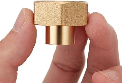 Litorange 2 PCS Lead Free Brass Reducing Hex Adapter Garden Hose Thread 3 4 Female GHT x 1 4 product image