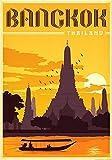 Thailand Bangkok c1154 A0 Poster - Papel fotográfico grueso brillante (40/33 inch)(119/84 cm) - Película Película Decoración de pared Arte Actor Actriz Regalo Anime Auto Cinema Room Decoración de pa