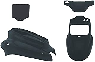 coperture del telaio posteriore 2 pezzi Coperture dellasse nere adatte per FXD 2006-2016 Copertura dellasse posteriore