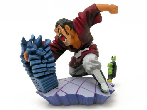 Dragon ball Z Figurine Gashapon Capsule Neo Cell Edition : Mr Satan Hercule Vs Perfect Cell