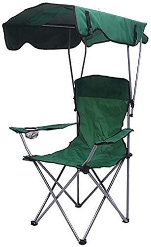 Silla plegable al aire libre de la pesca del toldo reclinable sillas de camping con el reposapiés ligero portátil cómodo asiento silla rojo verde