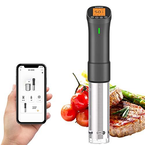 Inkbird Sous Vide, Roner Cucina Professionale, Wi-Fi Slow Cooker Controllo Remoto, Circolatore di Immersione per Cottura a Bassa Temperatura, 1000W