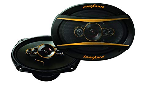 Songbird 6''x9'' Oval 700W Max 5 Way Gold Series Super BASS SB-B69-09 Coaxial Car Speaker