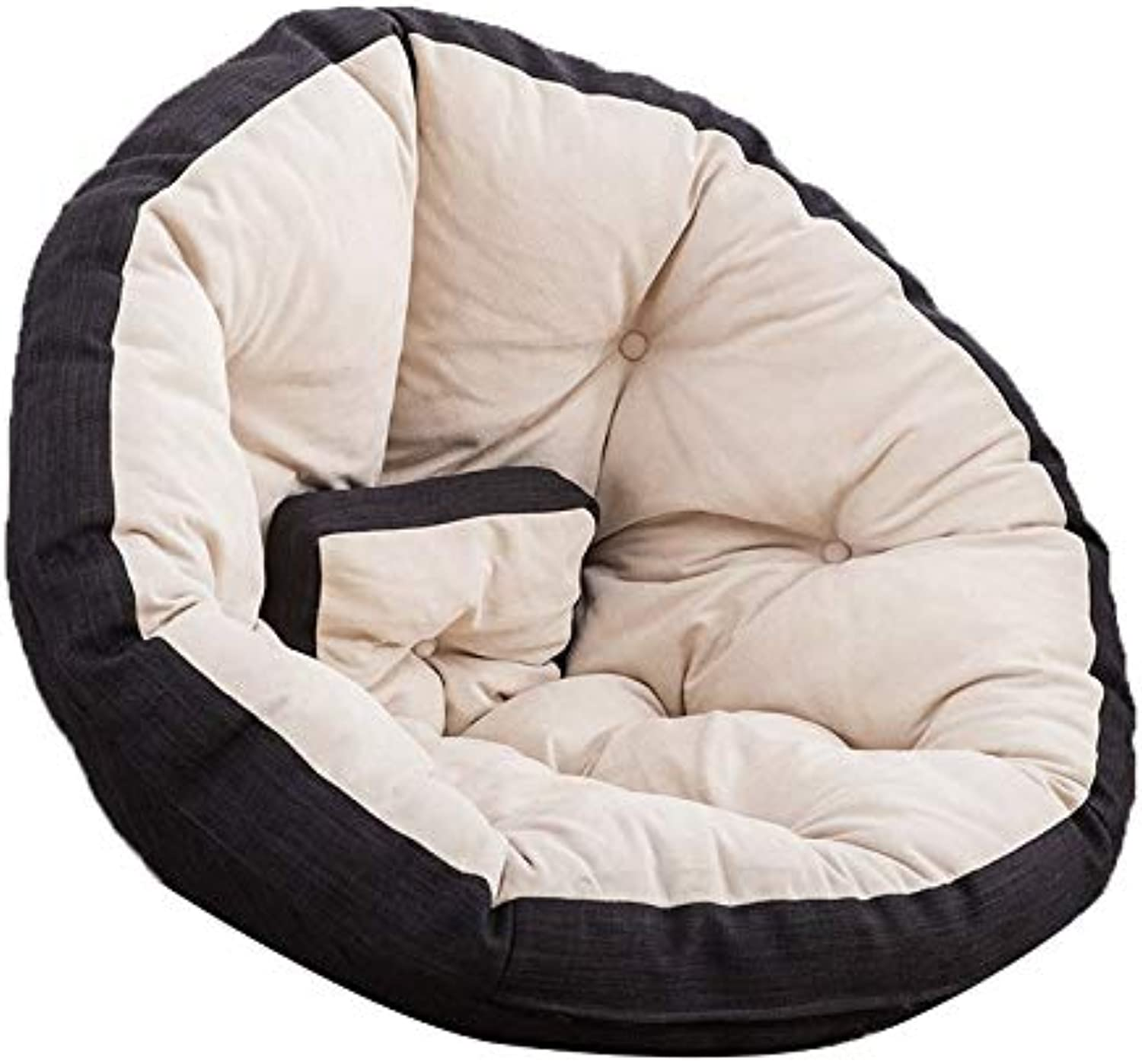 Sofas Bean Bags portable Cuddle Chair Washable Baby Sofa Kids Bedroom Fur (color   Black, Size   40.55  27.56  3.94in)