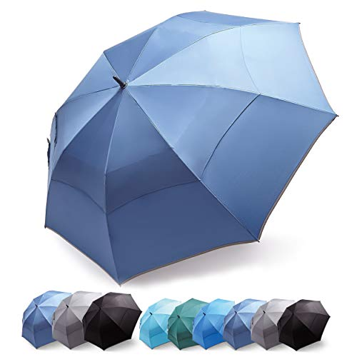 HOSA 54 68 Inch Automatic Open Large Golf Umbrella, Oversize Heavy Duty, Durable Extra Large Stick Umbrella, Windproof Waterproof UV Protection, Portable Folding for Men Women