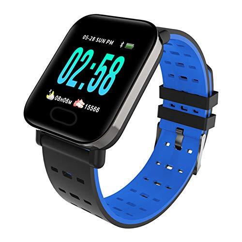 LXF JIAJU Pulsera Inteligente para La Presión Arterial De Samsung. Pulsera De Reloj Inteligente Impermeable (Color : Blue)