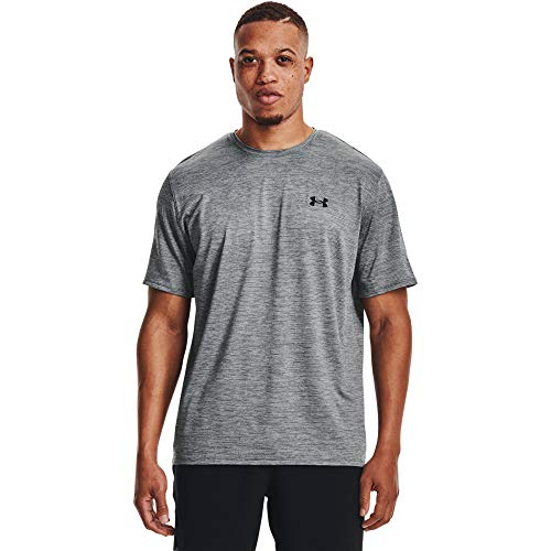 Photo of Under Armour Men's Ua Training Vent 2.0 Ss Breathable Sports Shirt, Lightweight Comfortable Men's T-Shirt, Mens, 1361426-012, Pitch Grey/Black, XS