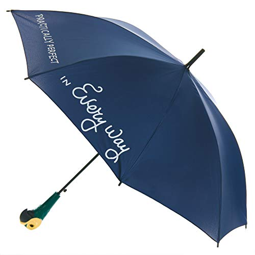 Paladone Mary Poppins Umbrella with Parrot Handle - Officially Licensed Disney Merchandise