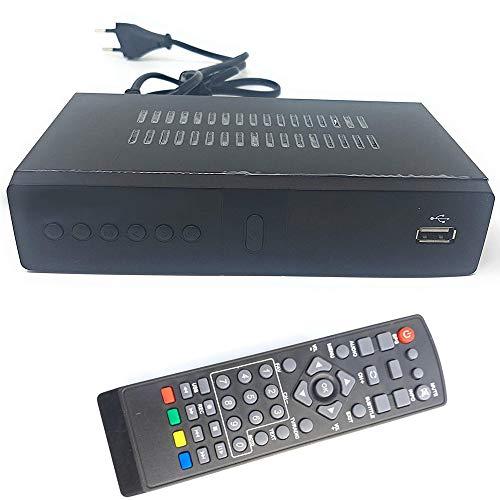 Decoder digitale terrestre ricevitore satellitare DVB-T2 presa scart HDMI HD Telecomando incluso 1080P REG dvb t2 televisione TV alta definizione