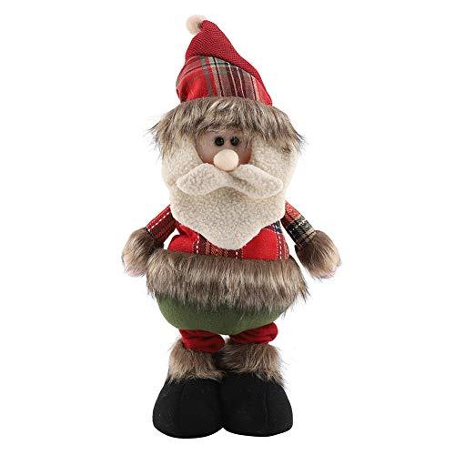 Garosa Muñecas de Navidad Retráctiles Adornos Lindos Papá Noel Reno Muñeco de Nieve de Juguete de Felpa Casa...