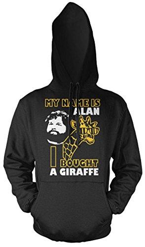 Uglyshirt89 Hangover Giraffe Männer und Herren Kapuzenpullover   Spruch Carlos Kostüm Alan Geschenk (XXL, Schwarz)