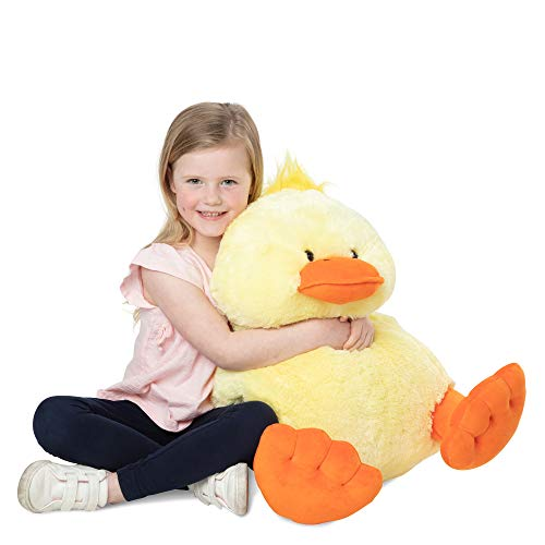 "Melissa & Doug Jumbo Yellow Ducky Stuffed Animal (20"" Tall, Great Gift for Girls and Boys - Best for 2, 3, 4 Year Olds and Up)"