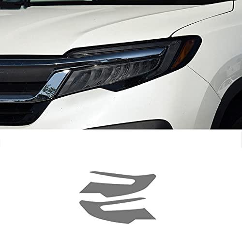 Qwldmj 2 uds película Protectora de Faros de Coche Transparente Negro TPU Pegatina para Honda Pilot 2015 2016 2017 2018 2019 Accesorios