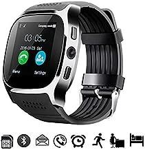 Miji Bluetooth T8 Reloj inteligente con Bluetooth, pantalla a color de 1,54 pulgadas, recordatorio de mensaje con pantalla táctil suave, llamada de control del sueño, reloj despertador, reloj inteligente con cuenta atrás para mujeres, niños y hombres