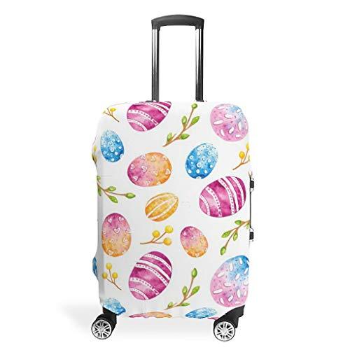 Fundas para maletas de viaje de Pascua, fáciles de identificar, 4 tamaños, se adaptan a la mayoría de equipaje, White (Blanco) - STELULI-XLXT-24