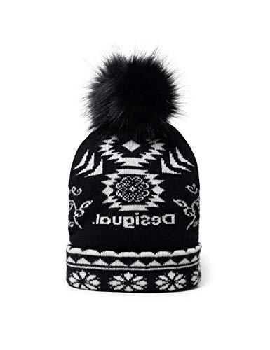 Desigual Womens HAT_Ethnic Reversible Headwrap, Black, U