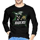Rohan Riders Team Logo Men's Casual Long-Sleeve T-Shirt Crew Neck T-Shirt Cotton Tee Black